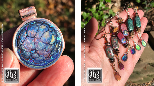 Handmade and Hand-painted Jewelry